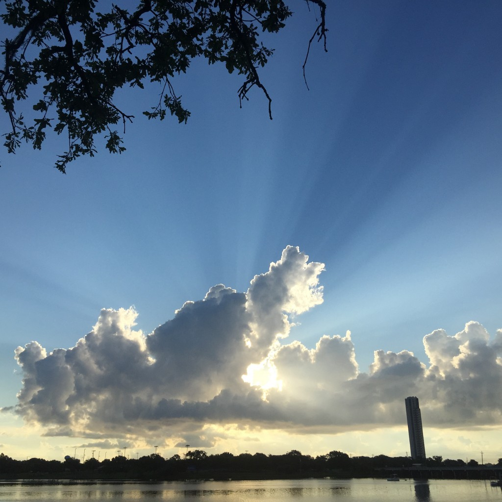 Image Credit: Leslie Carothers aka @tkpleslie } View: Mud Lake, an offshoot of Clear Lake, in Houston, TX