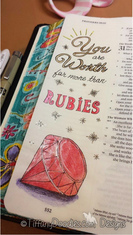 Bible Journaling || Image Credit:http://tiffanydoodles.blogspot.com/2015/02/bible-journaling-art-freebie-proverbs.html#.Vjn7OWSrT7d